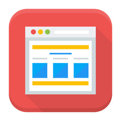 Webpage app icon with long shadow