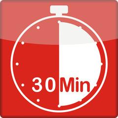 Uhr mit 30 Minuten