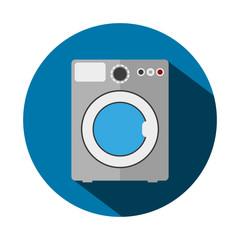 Vector illustration of flat washing machine
