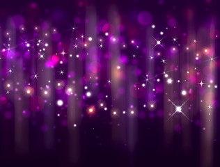 merry festive background with stars