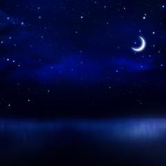 night sky in the open sea