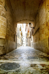 Old street in city of Palma de Mallorca, Spain