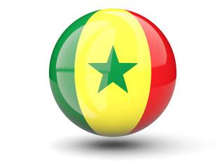 Round icon of flag of senegal