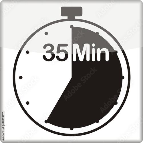 canvas print picture Uhr mit 35 Minuten