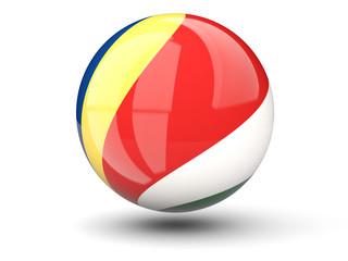 Round icon of flag of seychelles