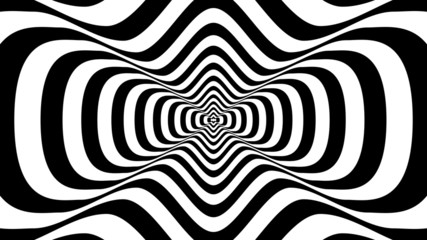 Abstract wavy shape with two crests -  visual illusion