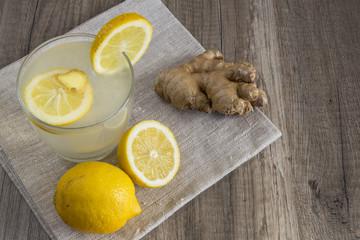 Detox Lemon and Ginger Drink