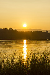Sunrise at Mekong River , Chiangrai Thailand