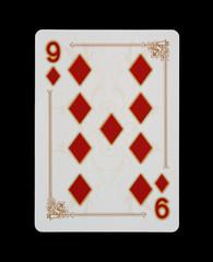 Spielkarten - Poker - Karo Neun im Spiel
