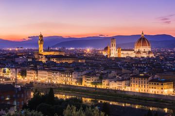 Santa Maria Del Fiore at night, Florence, Italy