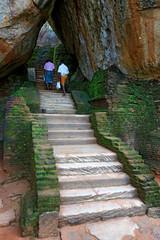 Stairway in Sigiriya Castle