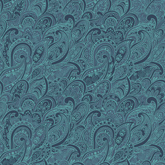colorful paisley seamless pattern
