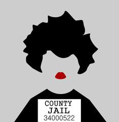 mug shot of woman in jail