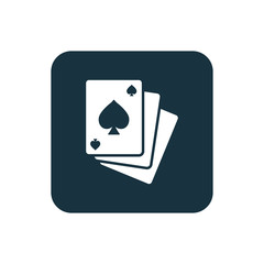 poker icon Rounded squares button.