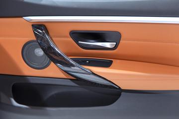Elegant luxury car door interior