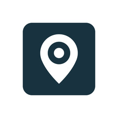 map pin icon Rounded squares button.