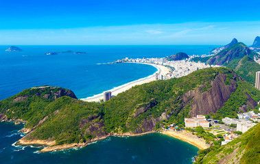 Aerial view of some beaches in Rio de Janeiro, Brazil