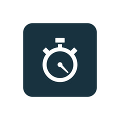 timer icon Rounded squares button.