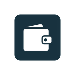wallet icon Rounded squares button.