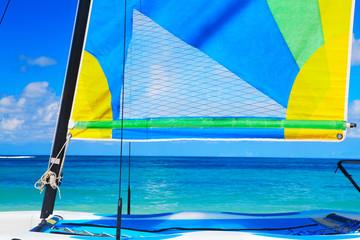 Yacht at ocean