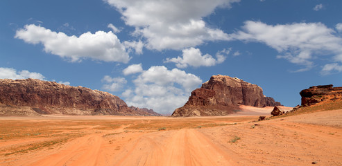 Wadi Rum Desert, Jordan, 60 km to the east of Aqaba