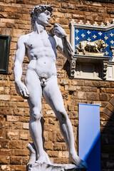 Michelangelo's David Skulptur, Florenz, Italien