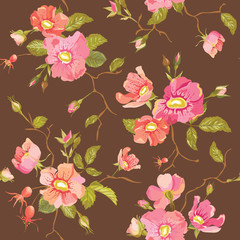 Roses Background - Seamless Floral Shabby Chic Pattern