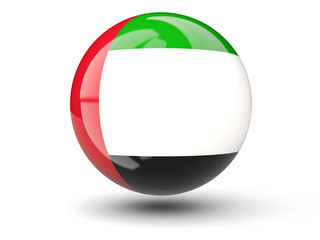 Round icon of flag of united arab emirates