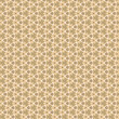 flower and geometrical ornament, beige