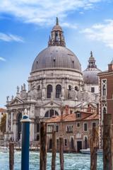 Basilica di Santa Maria della Salute in Venice, Italy.