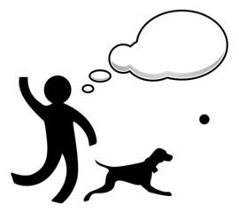 Person play with dog