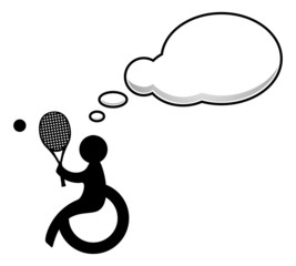 Disabled people with speech bubble