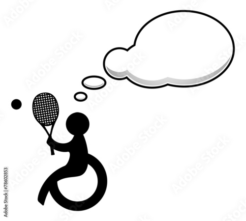 Disabled people with speech bubble - 78602853
