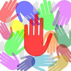 Hand Hände Achtung  #150222-04