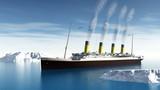 Titanic ship - 3D render - 78604082
