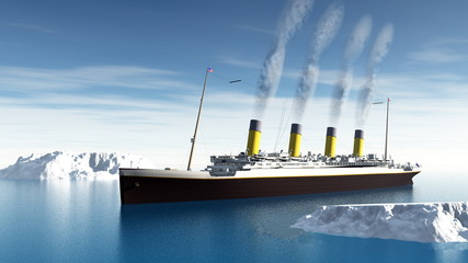 Titanic ship - 3D render