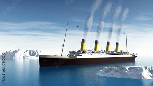 Fototapeta Titanic ship - 3D render