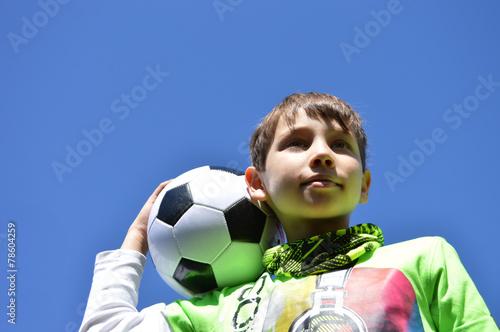 canvas print picture kind mit fussball