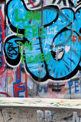 Graffiti auf einer Mauer