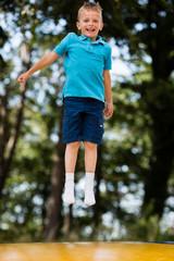 Boy at trampoline