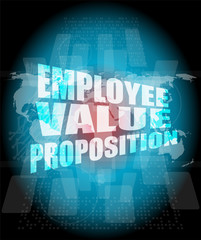 Management concept: employee value proposition words