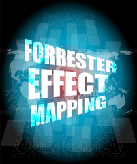 Management concept: forrester effect mapping words