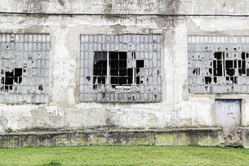 Windows of a building in ruins