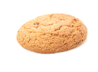 oat cookies on white background