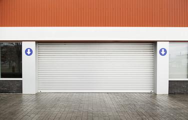 Garage door on the street
