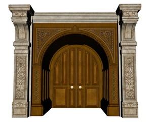 Palace entrance - 3D render