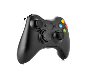 video game controller isolated on white background