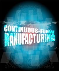 Management concept: counting flow manufacturing words