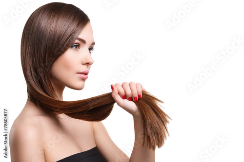 Woman with beautiful long hair - 78605877