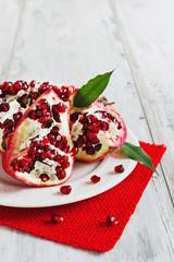 ripe pomegranate seeds